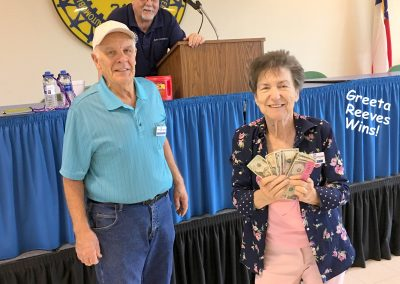 RETIREE LUNCH-GREETA WINS FINAL
